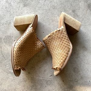 REBELS Open-Toe Weaved Slip-on Heeled Sandals